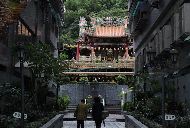 image of partially obscured temple in taipei